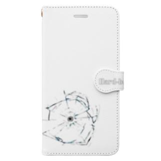 Hard-boiled (Bullet hole)(スマホケース・手帳型) Book-style smartphone case