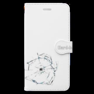 tomo-miseのHard-boiled (Bullet hole)(スマホケース・手帳型) Book-style smartphone case