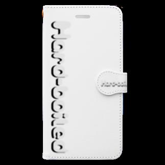 tomo-miseのHard-boiled ロゴ (スマホケース・手帳型) Book style smartphone case