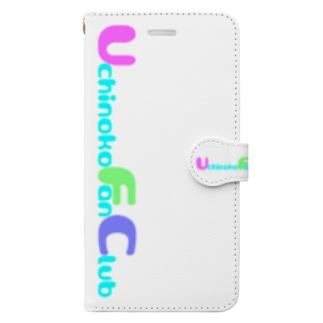 Uchinoko Fan Club ロゴ (スマホケース・手帳型) Book-style smartphone case