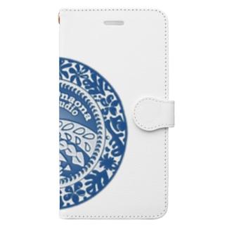 クレオナロゴ ブルー Book-style smartphone case