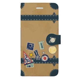 旅行かばん Book style smartphone case