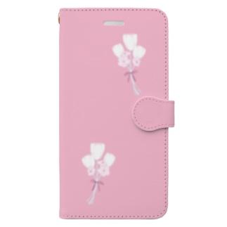 チューリップのブーケ Book-style smartphone case