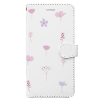 押し花風 Book-style smartphone case