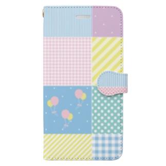 パステルパッチワーク Book-style smartphone case