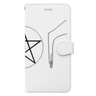 人よけ - ペンタグラム Book-style smartphone case