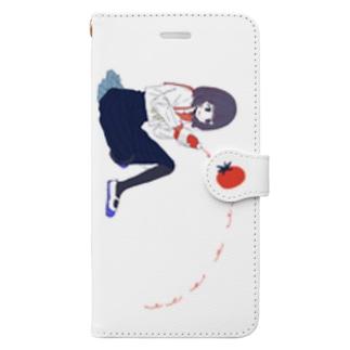 トマトケチャップな女の子スマホケースver. Book-style smartphone case