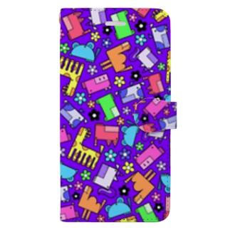 flower purple Book-style smartphone case