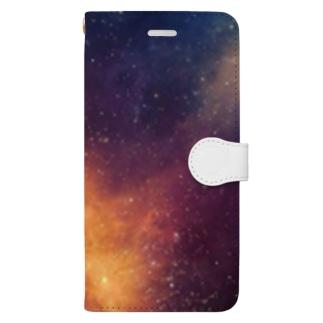 宇宙 グラデーションカラー Book-style smartphone case