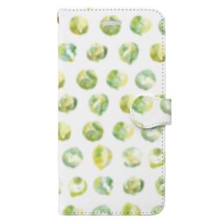芽キャベツ Book-style smartphone case