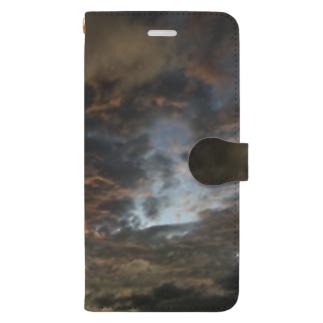 夕暮れの雲 Book-style smartphone case