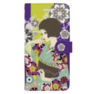 花の流れ Book-style smartphone case