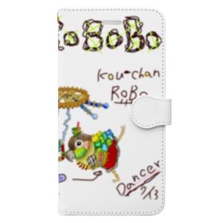 ROBOBO ウロコインコ「コウちゃんロボ」 Book-style smartphone case