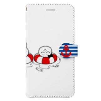 うきわちゃん iPhone 6s Plus/6 Plus/7 Plus/8 Plus 向け Book-style smartphone case