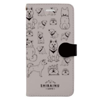 SHIBAINU-WHITE(白柴) Book-style smartphone case