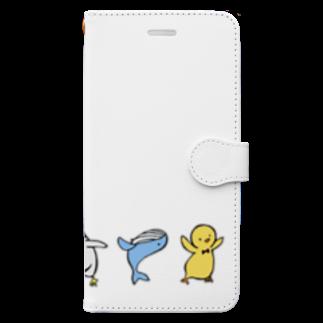 さくらの全員集合 Book-style smartphone case