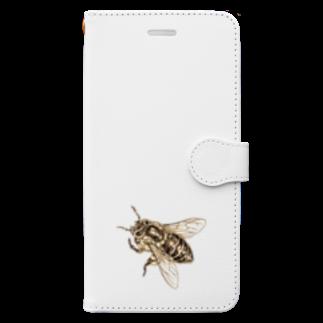 どろーいんぐ屋のハチついてるよ Book-style smartphone case