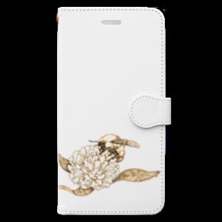 どろーいんぐ屋の蜜蜂 Book-style smartphone case