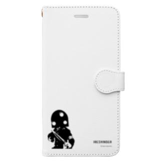 人造人間イレシンダー(英字ロゴ版) Book-style smartphone case