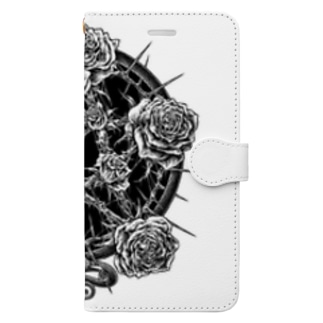 BLACKINK のPENTAGRAM - WHITE Book-style smartphone case
