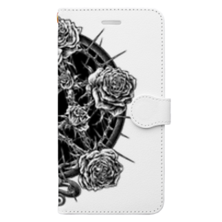 "BLACKINK "" Circle "" seriesのPENTAGRAM - WHITE Book-style smartphone case"