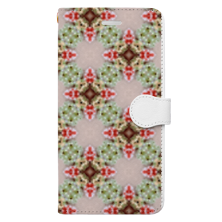 URIRU亭のKI-KAレース小花 Book-style smartphone case