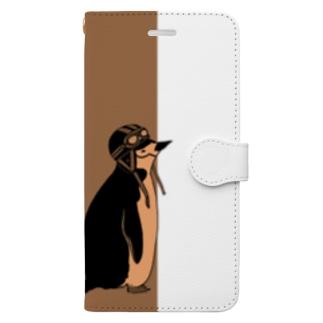 ヒゲペンギン(ヘルメット) Book-Style Smartphone Case