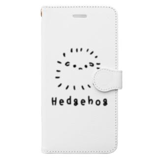 無色のハリネズミ Book-style smartphone case