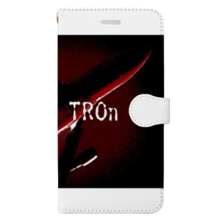 【SONICa TROn】 Orange Air シリーズ Book-style smartphone case