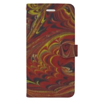 トルコのマーブル模様|ビュルビュルユワス1 Book-style smartphone case