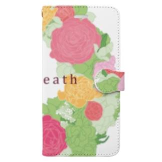 spring wreath Book-style smartphone case