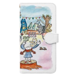 nelcoのどうぶつオーケストラ Book-style smartphone case