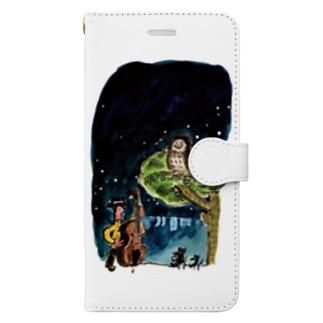 ふくろう Book-style smartphone case