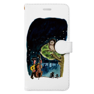 nelcoのふくろう Book-style smartphone case