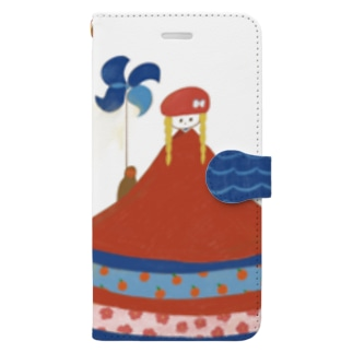サルと風車 Book-style smartphone case