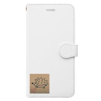 幸せハリネズミ Book-style smartphone case