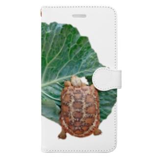 パンケーキリクガメ Book-style smartphone case