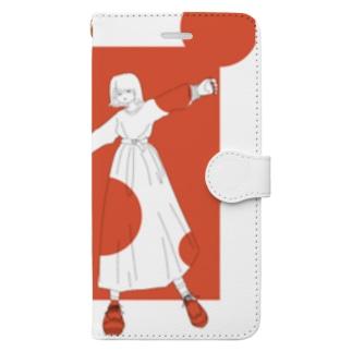 テラコッタ女子 Book-style smartphone case