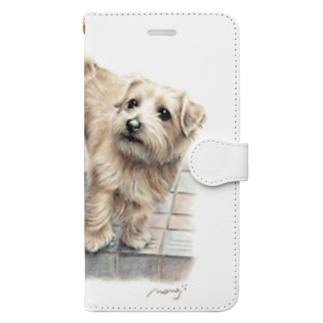Momojiの犬画のノーフォークテリア22 Book-style smartphone case