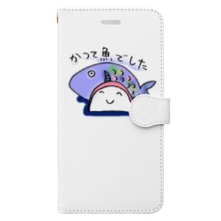 かつて魚だったカマボコ Book-style smartphone case
