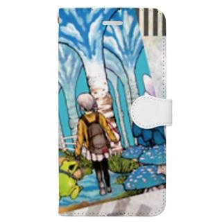 雨の日も音楽で心は晴れる Book-style smartphone case