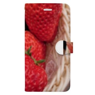 イチゴとミツバチ Book-style smartphone case