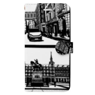 syo_31のスペインの街並み詰め合わせ Book-style smartphone case