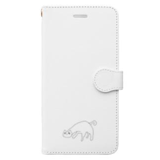 悪夢キャット Book-style smartphone case