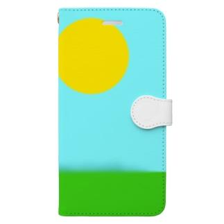 Isariショップの天気が良すぎる空 Book-style smartphone case