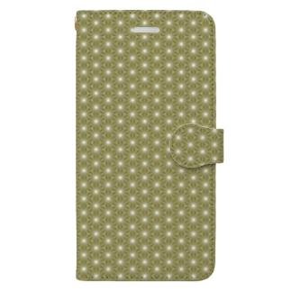 麻の葉 壱 Book-style smartphone case