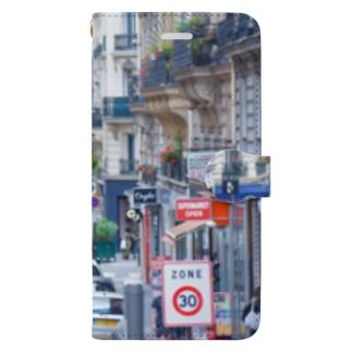 パリの道路 街 Book-style smartphone case