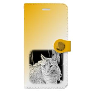 JOYFUL   Requesting Cat   山吹色 Book-style smartphone case
