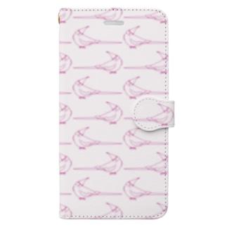 何見てるの?オカメインコ(ピンク) Book-style smartphone case