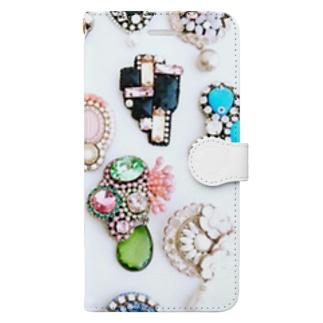ビジュー Book-style smartphone case